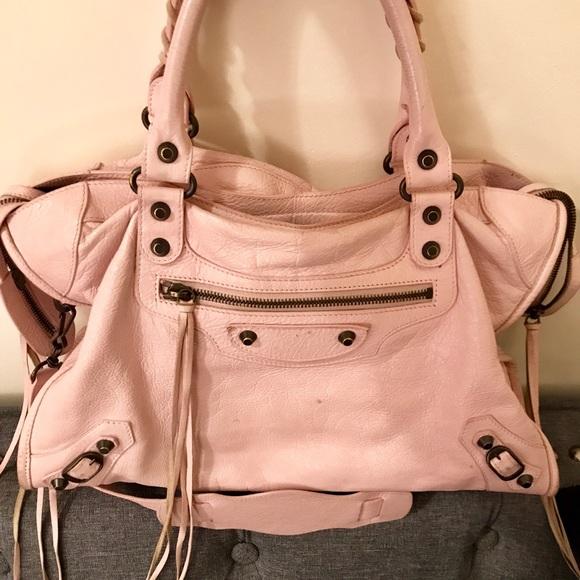 64ba674bce2 Balenciaga Handbags - Balenciaga city bag - blush pink